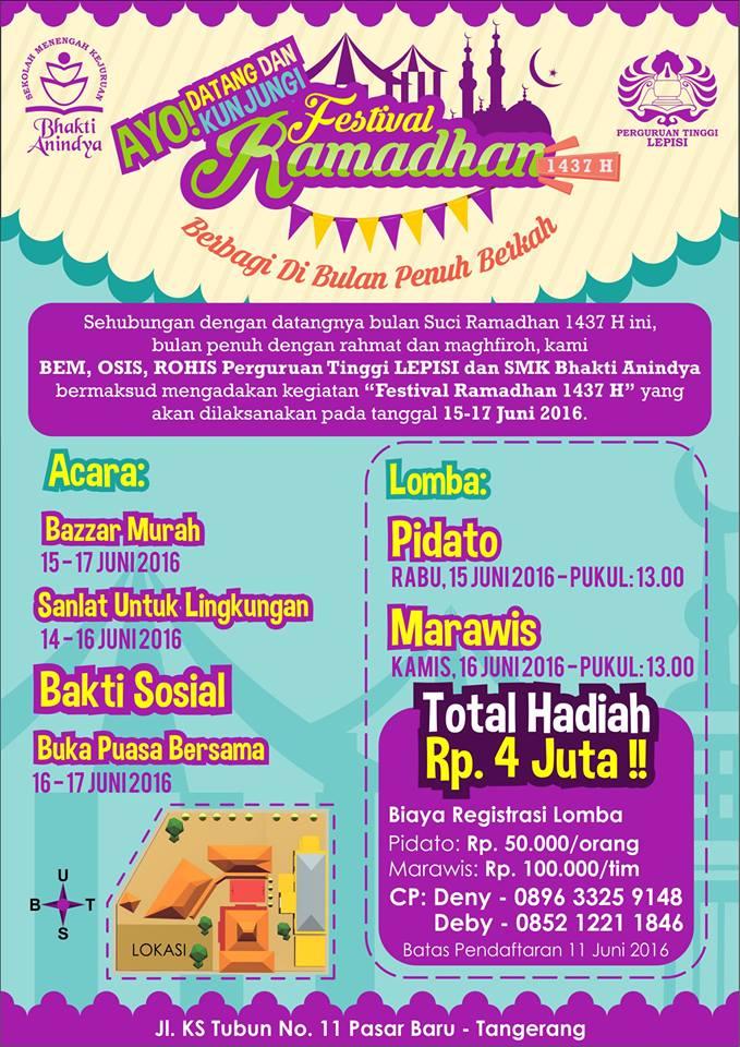Festival Ramadhan SMK Bhakti Anindya Tangerang 1437H