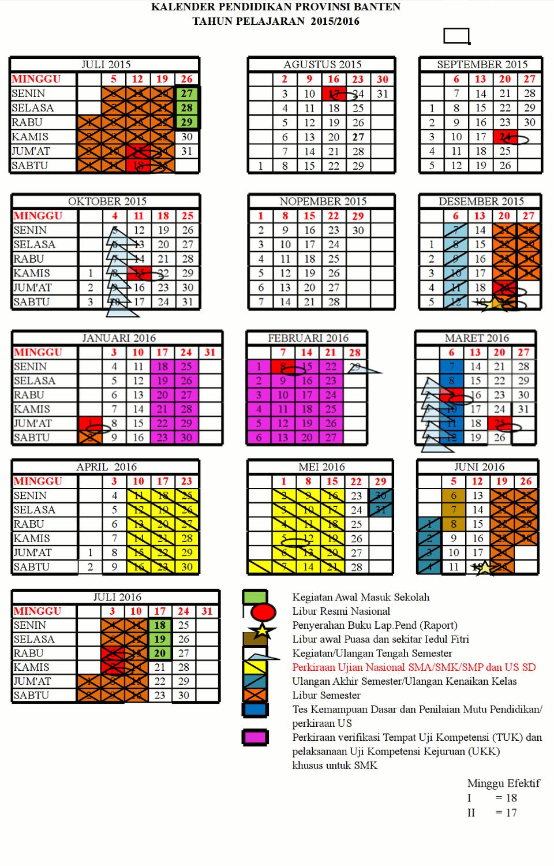 Kalender Akademik SMK Bhakti Anindya Tangerang 2015/2016