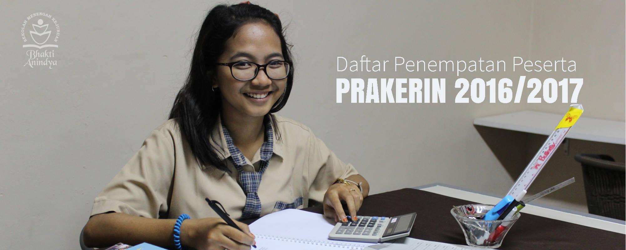 Daftar Penempatan Peserta Prakerin SMK Bhakti Anindya Tangerang 2016/2017